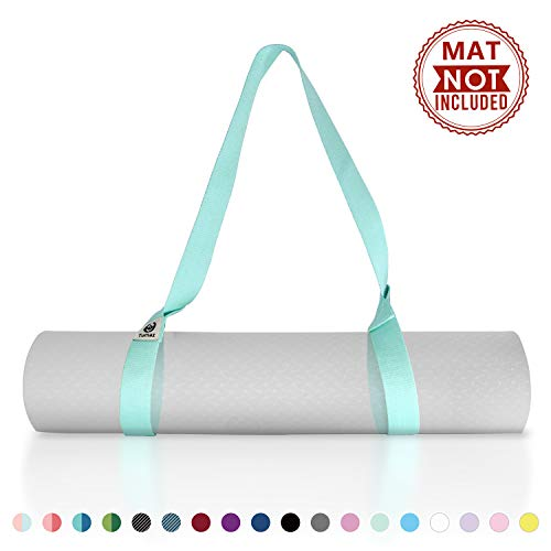 Tumaz Yoga Mat Strap [MAT NOT Included] (15+ Colors, 2 Sizes Options) with Extra Thick, Durable and Comfy Delicate…