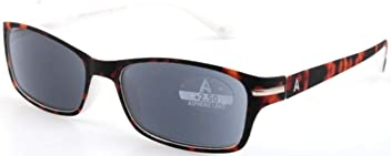 +2.50 Atlantic Eyewear AE0054 Stylish Brown and White Reading Glasses Supplied with Matching Soft Pouch