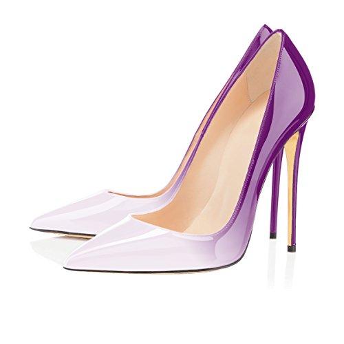 Blanc Ubeauty Femme Taille Chaussures Talons Femmes Escarpins Talon Grande violet Stilettos Aiguille v7vfwxqH