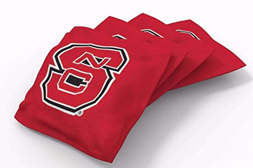 PROLINE 6x6 NCAA College NC State Wolfpack Cornhole Bean Bags - Solid Design (A) North Carolina Bag