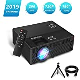 Projector,2019 Newest Aoxun A1 Native 720P Portable Home Theater LCD HD Video Projector with 200 ANSI,180