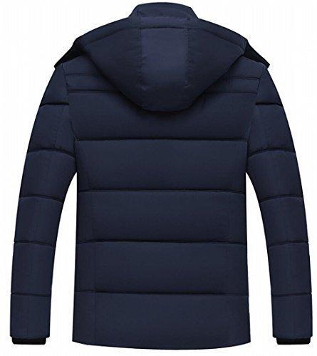 Lined Fleece Warm 1 Gocgt Hoode And Down Coat Men's Warm Jacket pFwqX7