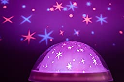 Galaxy Clock by MomKnows. Soothing Night Sky Star Projector. Music Player With Nature Sounds Auto Shut Off And Volume Control. Mood Starry Light Lamp. Ideal For Kids And Baby
