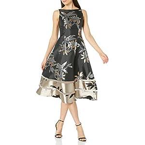 Adrianna Papell Women's Short Jacquard Dress