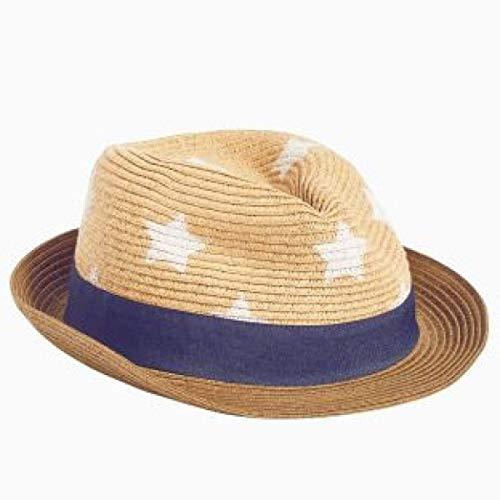 Sombrero 52cm Libre color Rojo Azul Fuxitoggo Aire De Verano Bebé Tamaño Sol Paja Del 78qx8dw1