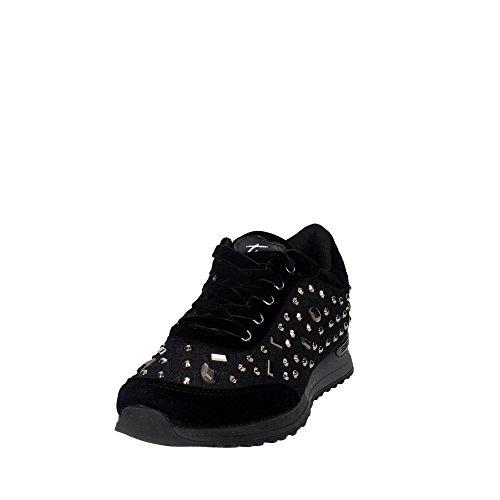 Braccialini 4026 Niedrige Sneakers Damen Schwarz