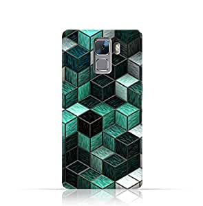 Huawei Honor 7 TPU Silicone Case with Cubes Pattern Design.