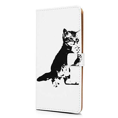 Tophung Huawei Honor 9Lite Fall, stoßfest Flip PU Leder Wallet Case TPU Innen mit Ständer Karte Slots Magnetverschluss Folio Notebook Schutz Haut Cover für Huawei Honor 9Lite Traumfänger katze