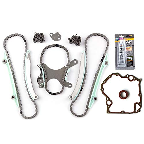 SCITOO TKMI047NG Timing Chain Kit Cover Gasket Set fits for 2000 2001 2002 2003 2004 2005 2006 2007 2008 Dodge Durango 2005 2006 Jeep Grand Cherokee 2002 2003 Dodge Durango