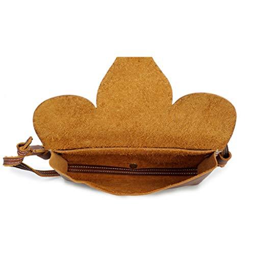 Café Pour Taille Brown Sac couleur Sacs 3 En Main À Messenger Vintage Femme 14cm 22 Bandoulière Enveloppe Cuir wgnA1w4q