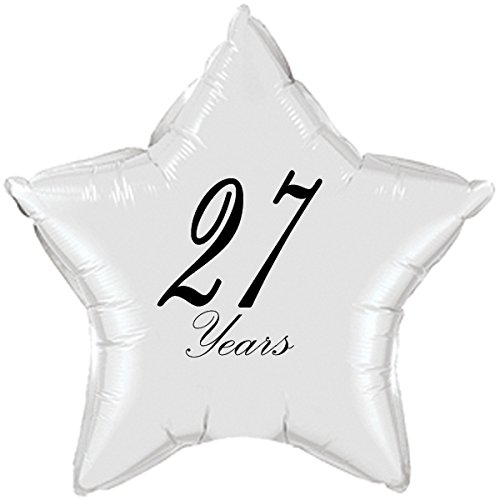 27 YEARS CLASSY BLACK STAR BALLOON (EACH) by Partypro -