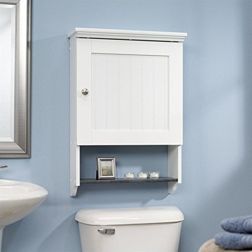 sauder wall cabinet soft white finish