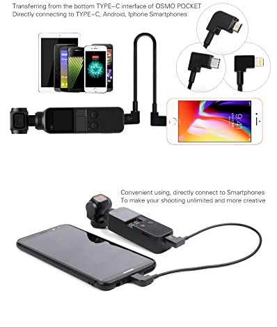 PENIVO Smartphone Type-c Android iOS Data Conversion Line Compatible with DJI OSMO Pocket Gimbal Camera CableTransmission Accessories Type-C to Type-C