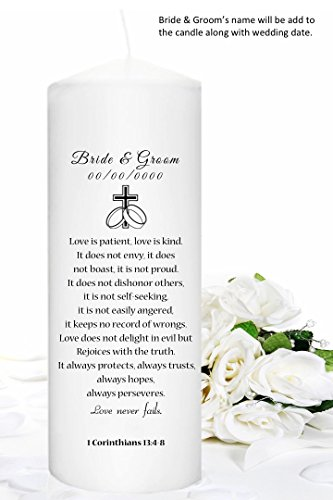 Unity Candles Personalized just for your wedding (Unity Wedding Candle)
