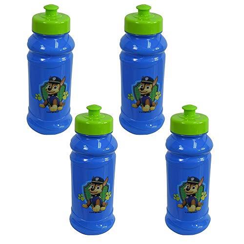 Zak Designs 4-Pack Paw Patrol Kids 16oz Pull-Top Water Bottles, Blue/Green, BPA-Free ()