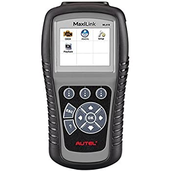 Autel MaxiLink ML619 CAN OBD2 Scanner Code Reader +ABS/SRS Diagnostic Scan Tool, Turns off Engine Light (MIL) and ABS/SRS Warning Lights(The Upgrade Version of AL619)