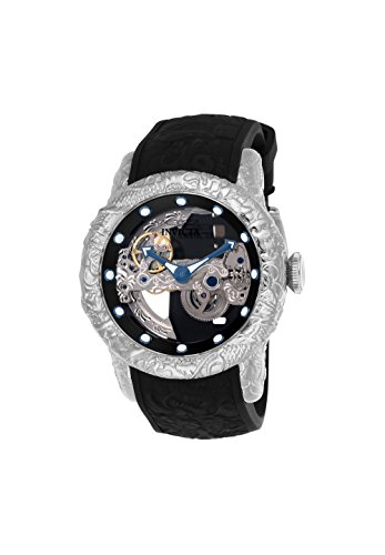 Invicta Dragon - Invicta Men's 50mm Empire Dragon Ghost Automatic Skeletonized Dial Silicone Strap Watch