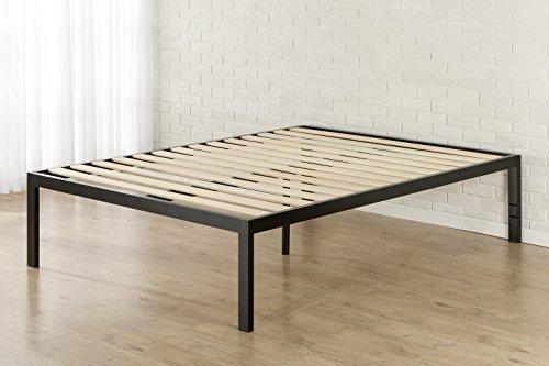 zinus quick snap 18 inch platform bed frame mattress foundation with wooden slat support. Black Bedroom Furniture Sets. Home Design Ideas