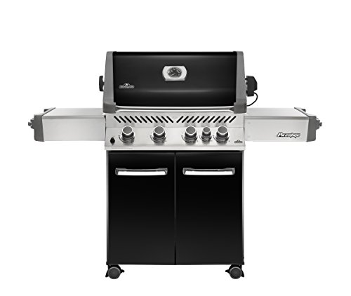 Napoleon Grills Prestige 500 with Infrared Rear Burner Midnight Black Natural Gas Grill