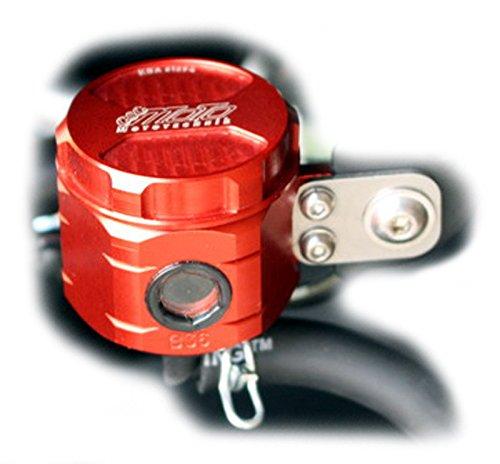 GSG Mototechnik 製 Yamaha MT03 3RH 2016y'以降 / R3 3RH 2015y'- モデル用 リア マスター リザーバー オイル タンク アルミ削り出し RED (赤色) アルマイト 仕上げ   B073WVTDN1