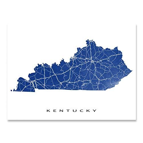 Kentucky Map Print, KY State Art, USA on kentucky cities, kentucky on world map, kentucky maps online, kentucky border, kentucky state map,