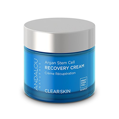 Andalou Naturals Argan Stem Cell Recovery Cream, 1.7 oz, For Oily or Overreactive Skin, Helps Clarify & Cleanse Pores for Glowing (Balance Oily Skin Moisturizer)