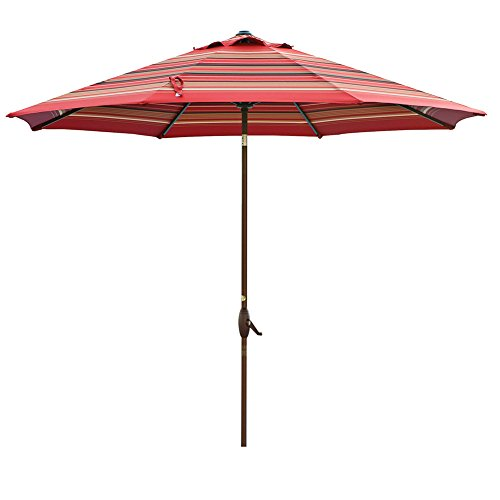 Abba Patio 11-Feet Patio Umbrella Outdoor Table Umbrella wit
