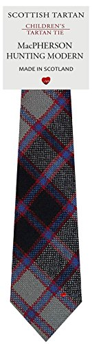- Boys Clan Tie All Wool Woven in Scotland MacPherson Hunting Modern Tartan