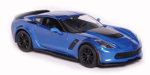 Maisto New 1:24 W/B Special Edition - Blue 2015 Chevy Corvette Z06 Diecast Model Car