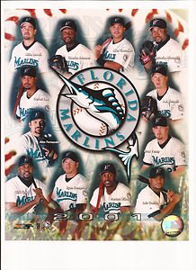 Florida Marlins 2001 Team Composite Unsigned 8x10 Photo ()