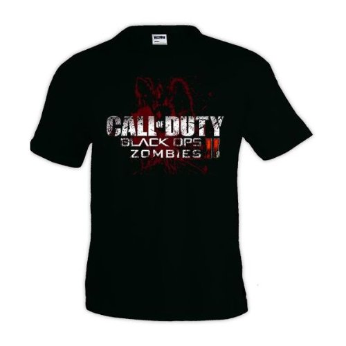 Camiseta Call Of Duty Black Ops II zombies manga corta Mx Games