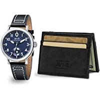AVI-8 Lancaster Bomber Blue Dial Men's Watch and Gift Set