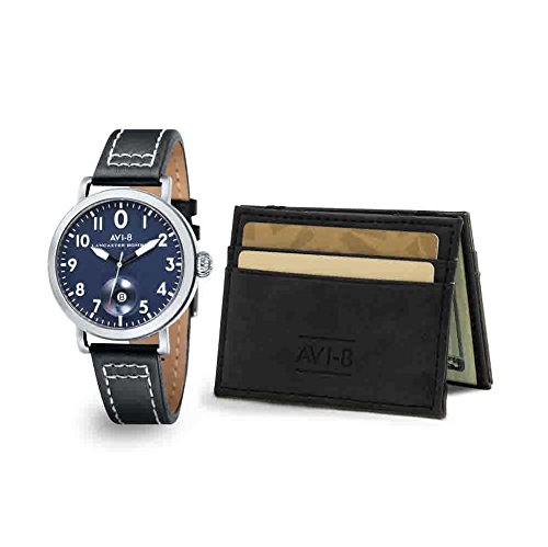 AVI-8 Lancaster Bomber Blue Dial Mens Watch and Gift Set AV-ASET-04