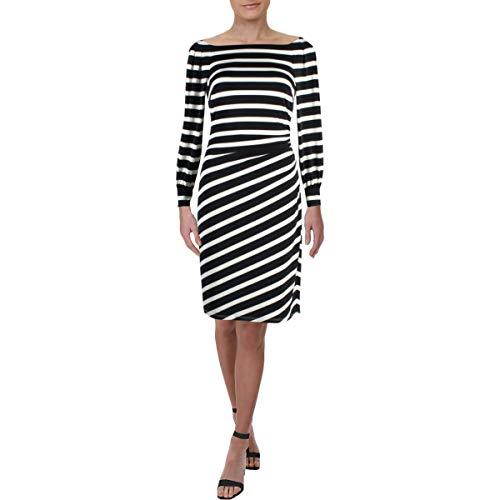 Lauren Ralph Lauren Women's Kynara Tug Boat Stripe Matte Jersey Dress Lighthouse Navy/Colonial Cream 0