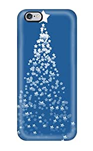 High-quality Durability Case For Iphone 6 Plus(blue Stars Christmas Tree Background Xmas Santa Claus Holiday Christmas)