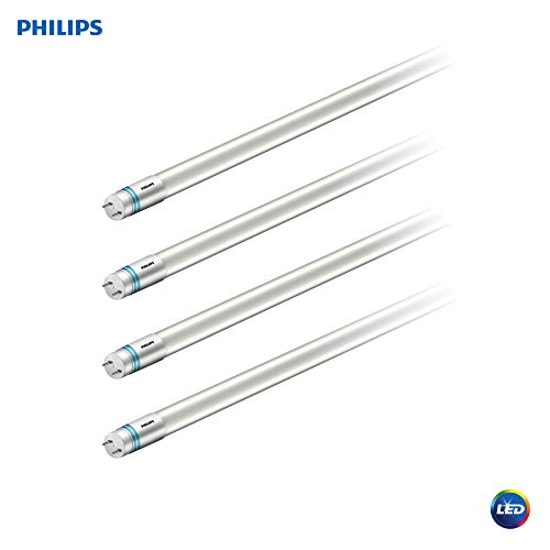 (Philips LED UniversalFit 4-Foot T8 Tube Light Bulb 1800-Lumen, 5000-Kelvin, 16 (32-Watt Equivalent), Medium Bi-Pin G13 Base, Daylight, 4 Pack, 544296, 5000 Kelvin, 4 Piece)