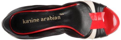 Karine Arabian Monterey A Damen Pumps Schwarz - Noir (Noir/Rouge/Nude)