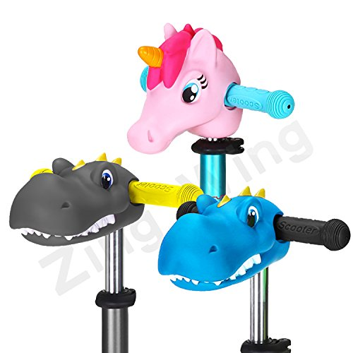 Unicorn Toys Gifts for Girls,Kids T-Bar Kick Scooter Bike Pogo Stick Accessories Unicorn Pony Horse Dinosaur Head for Girls Boys Kids Gifts Presents