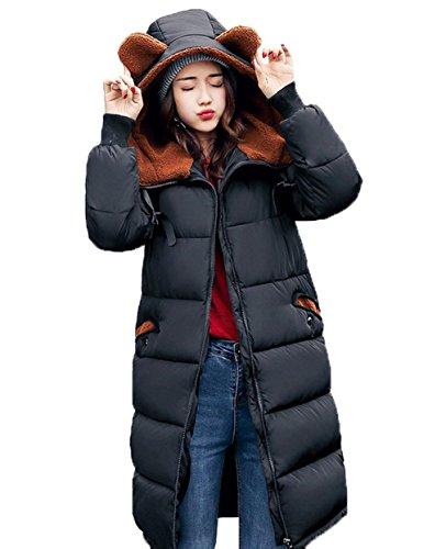 Di Cappotto Cappotto Nero Imbottito Delle Stile Donne Delle Giù Spessore Bigood Coreano Signore PAvYn