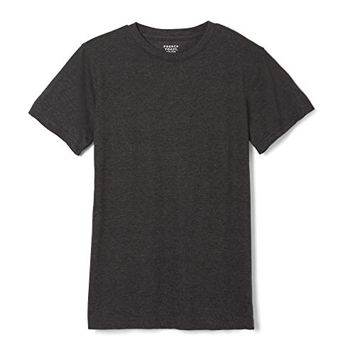 French Toast Boys' Short Sleeve Crewneck Tee,Charcoal Heather Gray Single dye,4T ()