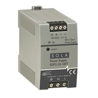 Sola/Hevi-Duty SDP2-24-100T DC Power Supply, 24-28 VDC, 2.1 Amp, 43-67 Hz
