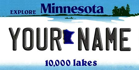 (BNS Personalized Bicycle/Toy Car/Wagon / Golf Cart License Plate Tag (Minnesota) )