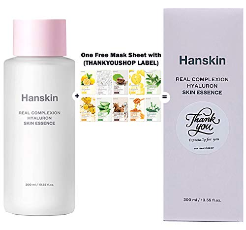 Hanskin Hyaluron Skin Essence Real Complexion Facial Moisturizer Hydrating with THANKYOU LABEL(10.55oz)
