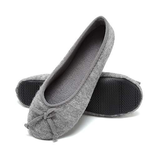 SOVIKER Women Indoor Ballerina Yoga Shoes House Slippers Breathable Lightweight Foldable -