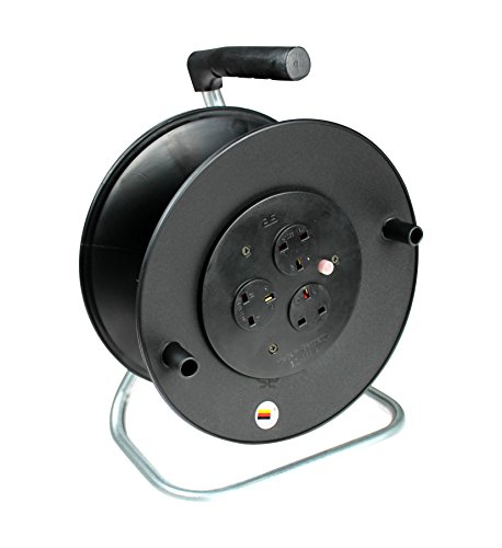(as - Schwabe 610108 13 A 3-Socket Open Cable Reel with Thermal Cut-Out -)