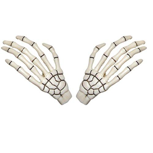 White Skeleton Hands Hair Clip Halloween Horror Accessory Kreepsville