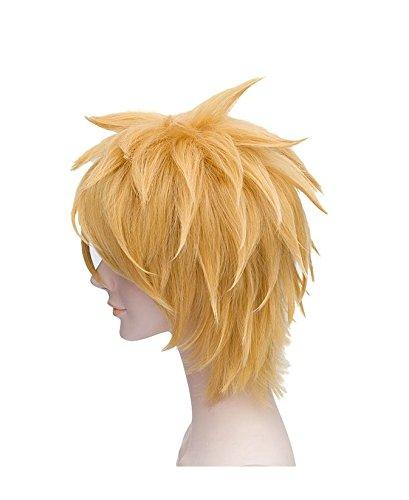 Amazon.com: weeck Anime Corto dorado Uzumaki Naruto cosplay ...