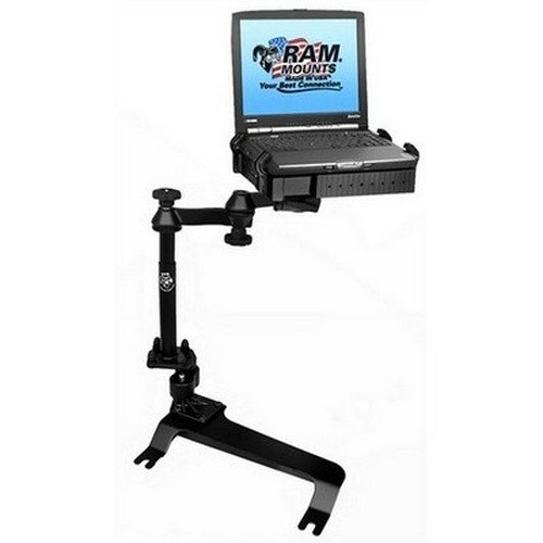 RAM Mounts No-Drill Laptop Mount for the Chevrolet Avalanche, Silverado, Suburban, Tahoe, GMC Sierra, Yukon & Hummer H2 (RAM-VB-159-SW1) by RAM Mounting Systems