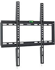 """VonHaus 37-70"""" Fixed TV Wall Mount Bracket with Ultra Slim Design for LED, LCD, 3D, Curved, Plasma, Flat Screen Televisions - Super Strong 35kg Weight Capacity"""