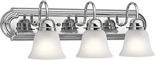 Kichler Lighting 5337CHS Three Light Bath, Chrome (Bathroom Kichler Chrome Bulbs)